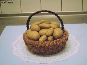 basket of potatoes cake