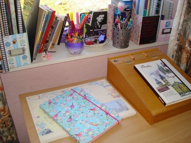 A few of my notebooks, the new journal is on the right, the old, thankfully now finished one, is on the left.