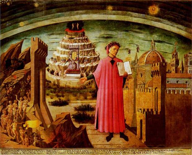 Michelino-Fresco-of-Dante-before-Mt.-Purgatory