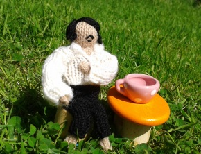 Honore de Balzac birthday knitted figure