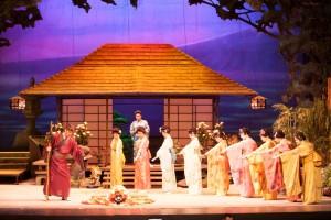 Madama Butterfly Stage set Ellen Kent Swansea Grand Theatre