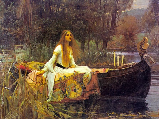 I have my own print of this, as well as there being one in the family home, so I have seen the ever-so-cheerful Lady of Shallot by Waterhouse most of the days of my 39 years.