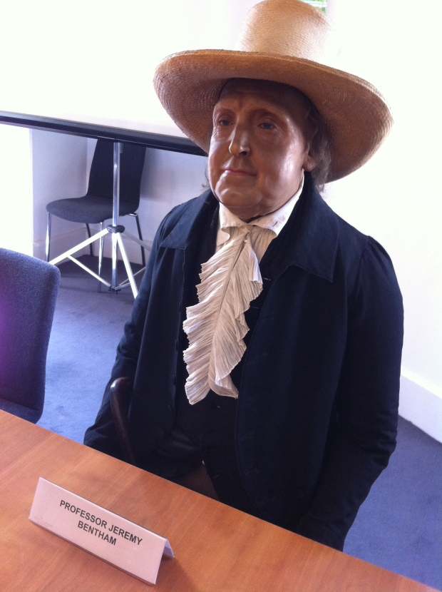 Jeremy Bentham at a meeting. Bet he's really impressed with Powerpoint.