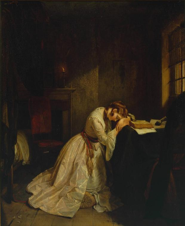 Clarissa -  her life properly sucks. Even being painted by Charles Landseer can't cheer her up.