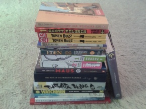 Graphic novels, comic books, manga