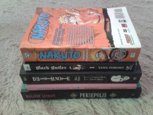 Graphic novels, comic books, manga
