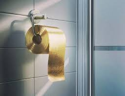gold loo roll