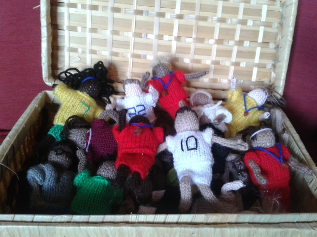 knitted footballers