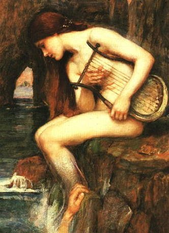'Err, lil' help?' Leocothea by Waterhouse.