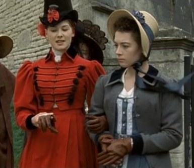 Lady Harriet and Molly Gibson in 'Wives and Daughters'. To be either or a blend of these two people would be a find role model for me when I grow up. Obviously, I'd need the beautiful red riding habit...