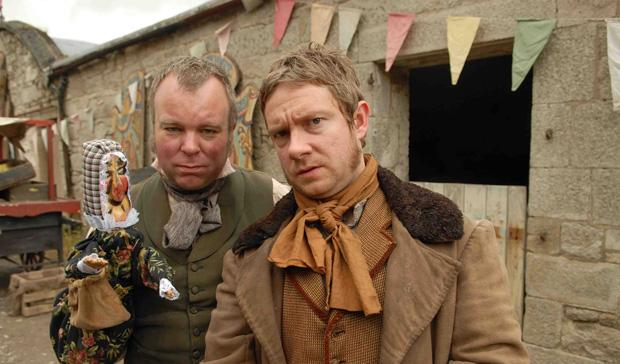 Steve Pemberton and Martin Freeman, whose Punch and Judy section is cut down so much it barely makes sense in the film, but nevermind, still better than the book.