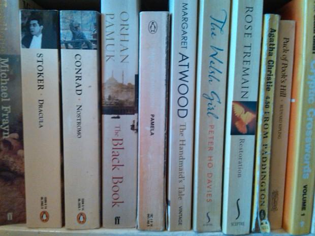 'Pamela', bookshelves
