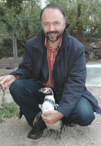 Kurkov with a little penguin. But I want a big one, like Misha. One as tall as a four-year-old child, and better behaved.