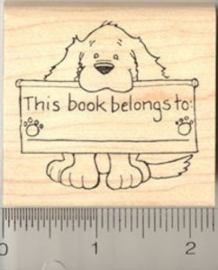 this_book_belongs_to_dog_rubber_stamp_h444_wood_mounted_bookplate_3846d0c0
