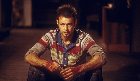 Danny in my favourite of his films, Severance, a comedy horror about a team-building weekend in the Hungarian forest at the mercy of crazed mercenaries and bear traps. What's not to love!