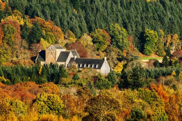 Pluscarden+Abbey+in+Autumn