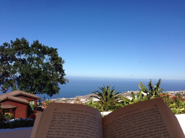 Tenerife view over book